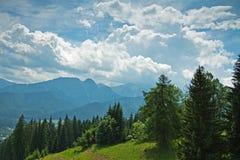 Montagne piene di sole di Tatra Immagini Stock Libere da Diritti