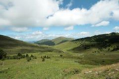 Montagne pirenaiche in Ariege, Occitanie nel sud della Francia Fotografia Stock Libera da Diritti