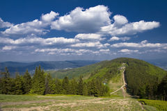 Montagne polacche Beskidy Fotografie Stock Libere da Diritti
