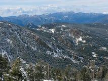 Montagne Pyrénées de neige Image stock