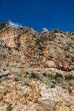 Montagne rocailleuse d'île Image libre de droits
