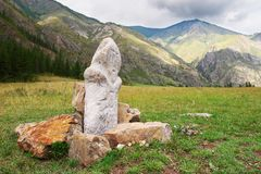 Montagne, rocce e idolo. Fotografia Stock