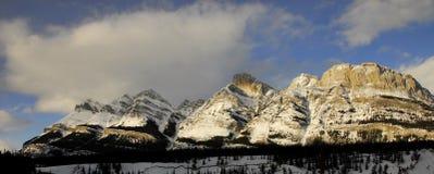 Montagne Rocciose canadesi Panomrama Fotografie Stock
