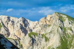 Montagne rocciose delle belle alpi delle dolomia Fotografia Stock Libera da Diritti