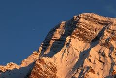 Montagne rocciose delle dolomia, della Croce, dolomia Trentino di Sasso Fotografia Stock Libera da Diritti