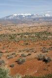 Montagne rocciose dello Snowy Immagine Stock