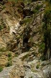 Montagne rocciose nel Kirghizistan Fotografia Stock
