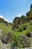 Montagne rocciose nel Kirghizistan Fotografia Stock Libera da Diritti