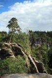 Montagne Rocciose nel paradiso ceco Immagini Stock Libere da Diritti