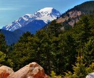 Montagne Rocciose nella primavera fotografia stock