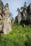 Montagne Rocciose nella regione ceca di paradiso Immagini Stock