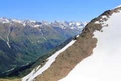 Montagne Rocciose nella regione di Caucaso in Russia Fotografie Stock Libere da Diritti