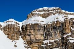 Montagne rocciose sulla stazione sciistica di Arabba Immagine Stock