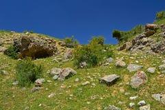 Montagne rocciose vicino alla città di Tamasha Immagine Stock Libera da Diritti