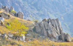 Montagne rocheuse dans le dobrogea Photographie stock libre de droits