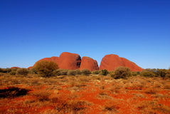 Montagne rosse della roccia. Fotografie Stock