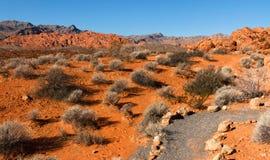Montagne rosse della roccia in valle del parco di stato del fuoco Fotografia Stock Libera da Diritti