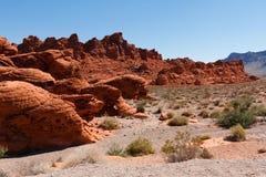 Montagne rosse della roccia in valle del parco di stato del fuoco Immagine Stock Libera da Diritti