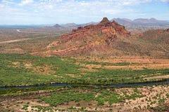 Montagne rouge dans le MESA est, Arizona Photos libres de droits