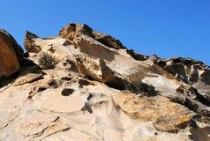Montagne rouge de roche Images libres de droits