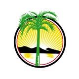Montagne royale de mer de Palm Beach rétro Photo libre de droits