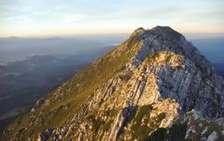 Montagne rumene Fotografie Stock Libere da Diritti