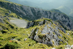 Montagne rumene Immagini Stock