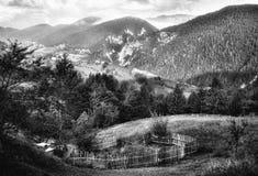 Montagne rumene Fotografia Stock