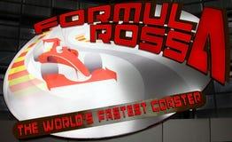 Montagne russe del mondo di Ferrari Immagini Stock