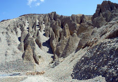 Montagne sabbiose sul modo al capitale del mustang superiore Lo- Fotografie Stock Libere da Diritti