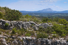 Montagne Sainte Victoire. From Roquefavour,near Aix-en-Provence (13,France Royalty Free Stock Image
