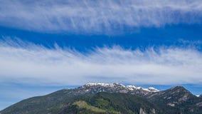 Montagne scénique d'été augmentant le Canada de paysages Image stock