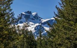 Montagne scénique d'été augmentant le Canada de paysages Image libre de droits