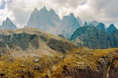 Montagne sceniche delle dolomia Immagini Stock