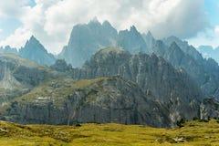 Montagne sceniche delle dolomia Fotografia Stock Libera da Diritti