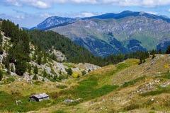 Montagne serene nei Balcani Immagine Stock