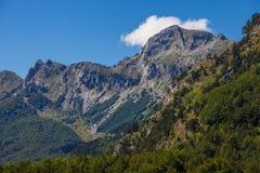 Montagne serene nei Balcani Fotografie Stock