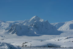 Montagne Shekelton en Antarctique. Photos stock