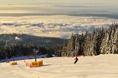 Montagne Ski Hills de grouse Photo libre de droits