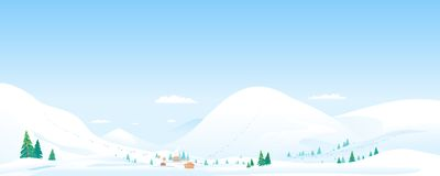 Montagne Ski Resort Landscape Background Illustration Libre de Droits