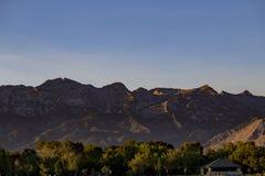 Montagne sopra l'altopiano Glen Park Fotografie Stock