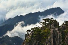 Montagne sopra le nubi fotografia stock