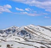 Montagne sotto neve Immagine Stock Libera da Diritti
