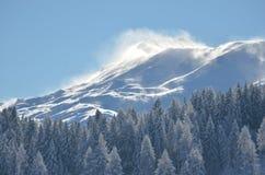 Montagne soufflée par vent Photo libre de droits