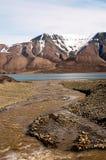Montagne in Spitsbergen, le Svalbard, Norvegia Fotografia Stock