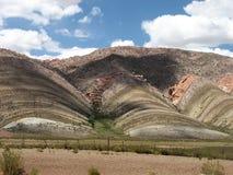 Montagne a strisce Immagine Stock