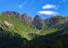 Montagne stupefacenti della dolomia Fotografie Stock