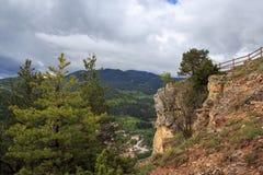 Montagne stupefacenti di Rhodope di vista in Bulgaria Immagini Stock