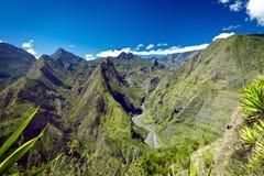 Montagne su Reunion Island Fotografia Stock Libera da Diritti