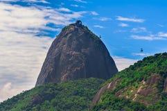Montagne Sugar Loaf et Urca en Rio de Janeiro Photos libres de droits